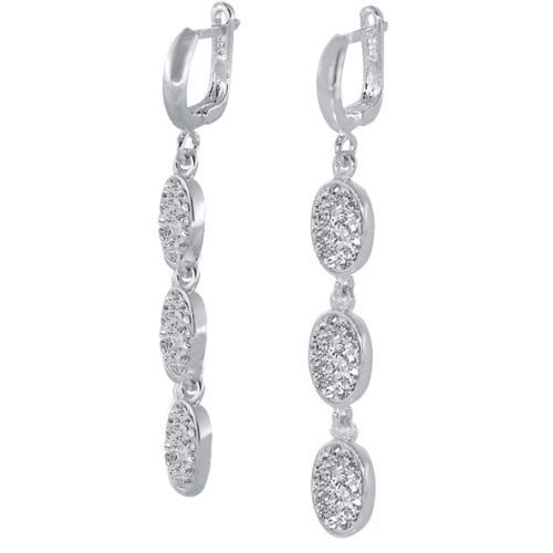 Сребърни обеци с кристали от Swarovski® SO337