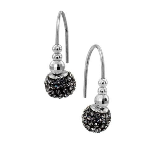 Сребърни обеци с кристали от Swarovski® SO338