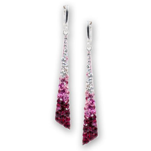 Сребърни обеци с кристали от Swarovski® SO339 Bold Rose