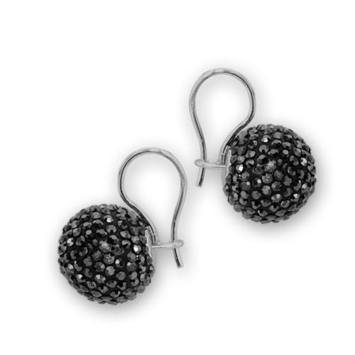 Сребърни обеци с кристали от Swarovski® SO340