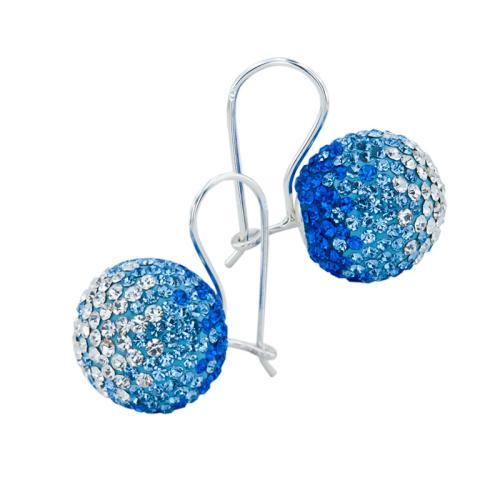 Сребърни Обеци С Кристали От Swarovski® SO340 Sapphire, Light Sapphire and Light Azore
