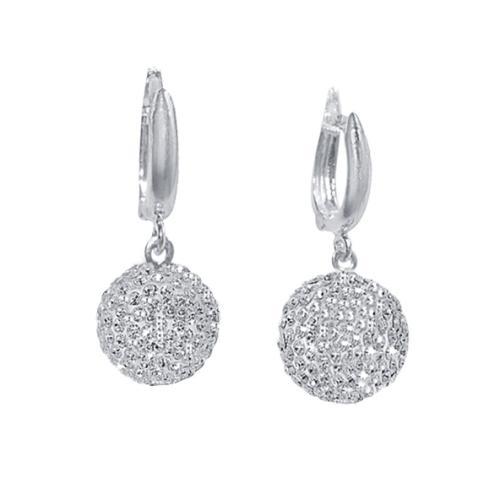 Сребърни обеци с кристали от Swarovski® SO341