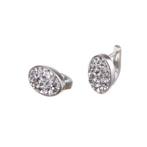 Сребърни обеци с кристали от Swarovski® SO346