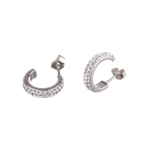 Сребърни обеци с кристали от Swarovski® SO347