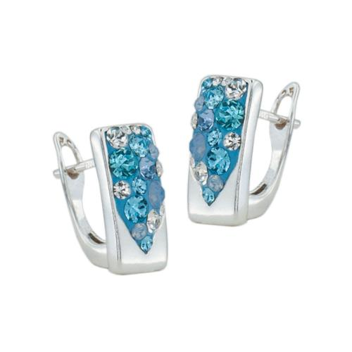 Сребърни обеци с кристали от Swarovski® SO348 Deep Blue