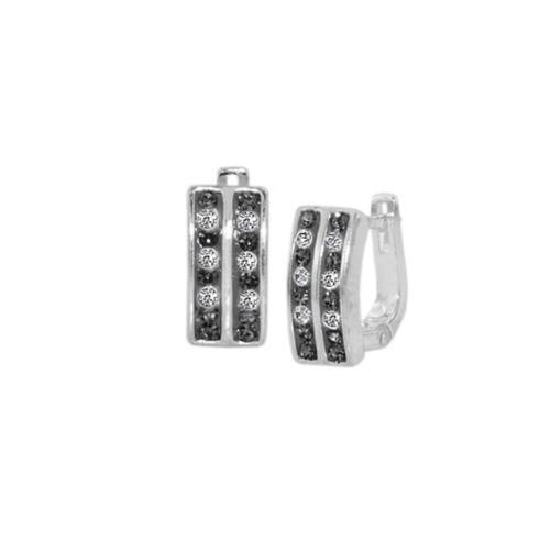 Сребърни обеци с кристали от Swarovski® SO349