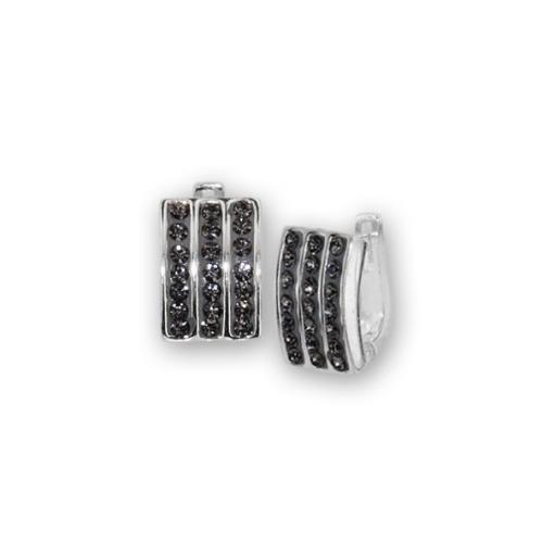 Сребърни обеци с кристали от Swarovski® SO350