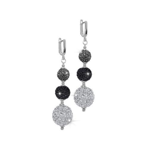 Сребърни обеци с кристали от Swarovski® SO357