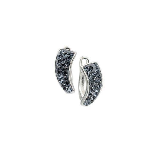 Сребърни обеци с кристали от Swarovski® SO358