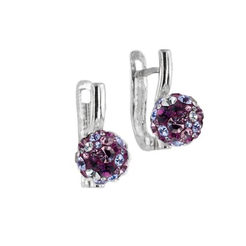 Сребърни обеци с кристали от Swarovski® SO360 Blush Rose