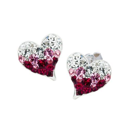 Сребърни Обеци С Кристали От Swarovski® SO362 Bold Rose
