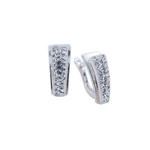 Сребърни обеци с кристали от Swarovski® SO363