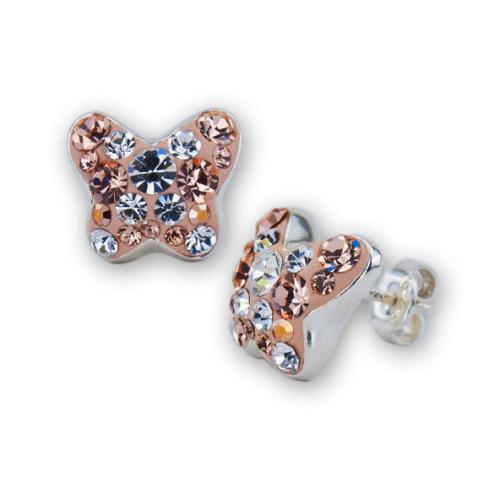 Сребърни обеци с кристали от Swarovski® SO364