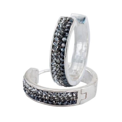 Сребърни обеци с кристали от Swarovski® SO367