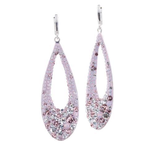 Сребърни обеци с кристали от Swarovski® SO371 Marilyn