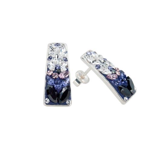 Сребърни обеци с кристали от Swarovski® SO372 Corsette