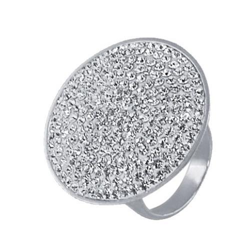 Сребърен пръстен с бели кристали от Swarovski® SP600 Crystal