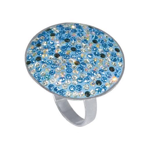 Сребърен пръстен със сини кристали от Swarovski® SP600 Blue
