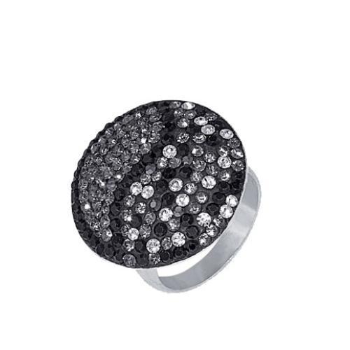 Сребърен пръстен с кристали от Swarovski® SP601 Dark