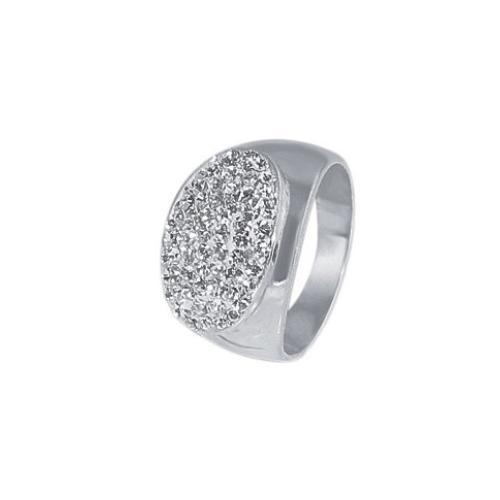 Сребърен пръстен с кристали от Swarovski® SP603 Crystal