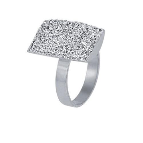Сребърен пръстен с кристали от Swarovski® SP608 Crystal