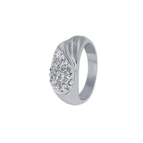 Сребърен пръстен с кристали от Swarovski® SP609 Crystal