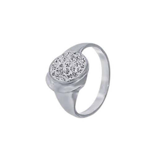 Сребърен пръстен с кристали от Swarovski® SP610 Crystal