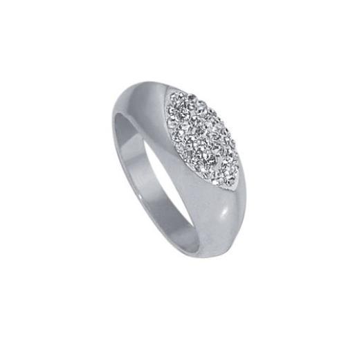 Сребърен пръстен с кристали от Swarovski® SP611 Crystal