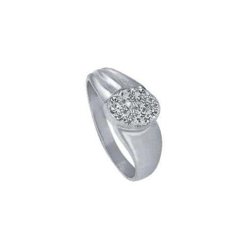 Сребърен пръстен с кристали от Swarovski®  SP616