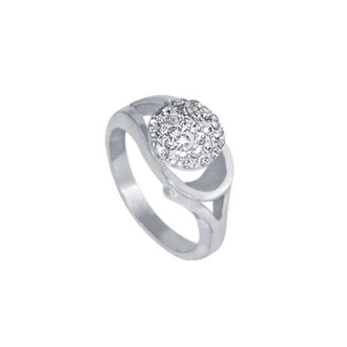 Сребърен пръстен с кристали от Swarovski®  SP618