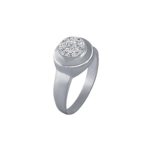 Сребърен пръстен с кристали от Swarovski®  SP619