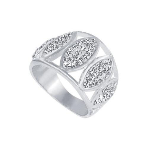 Сребърен пръстен с кристали от Swarovski®  SP620 Crystal