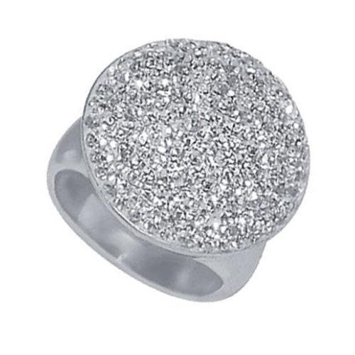 Сребърен пръстен с кристали от Swarovski®  SP625 Crystal