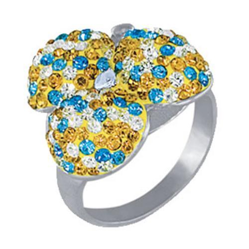 Сребърен пръстен с кристали от Swarovski®  SP626 Yellow