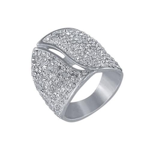 Сребърен пръстен с кристали от Swarovski®  SP632