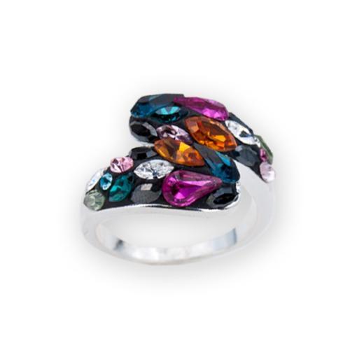 Сребърен пръстен с кристали от Swarovski®  SP633 Color Drops