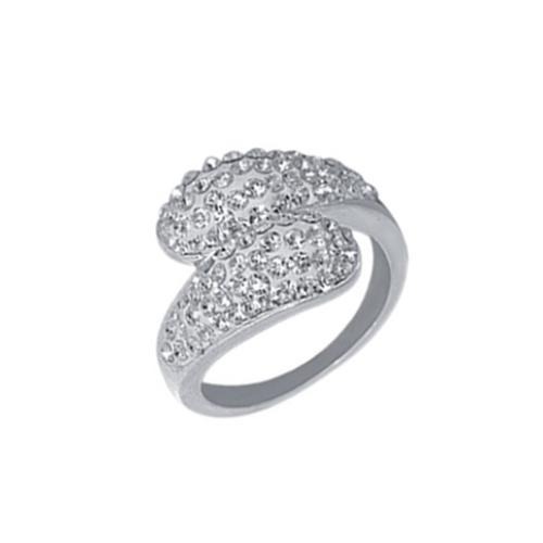 Сребърен пръстен с кристали от Swarovski®  SP633 Crystal