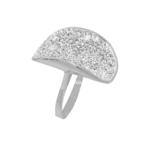 Сребърен пръстен с кристали от Swarovski®  SP636 Crystal