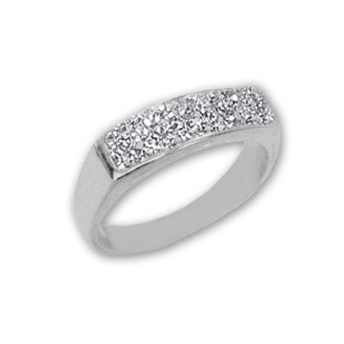 Сребърен пръстен с кристали от Swarovski®  SP638