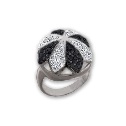 Сребърен пръстен с кристали от Swarovski®  SP641
