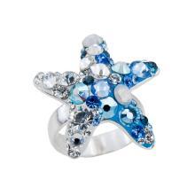 Сребърен пръстен с кристали от Swarovski® SP646 Metallic Rose Gold