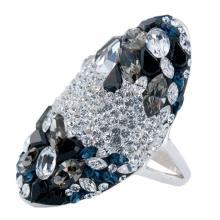 Сребърен пръстен с кристали от Swarovski®  SP647 Color Drops