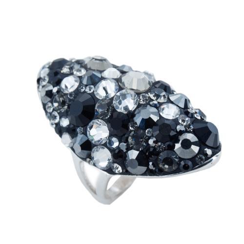 Сребърен пръстен с кристали от Swarovski®  SP647 Late Night