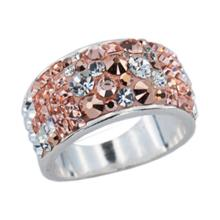 Сребърен пръстен с кристали от Swarovski®  SP648 Vivid Spring