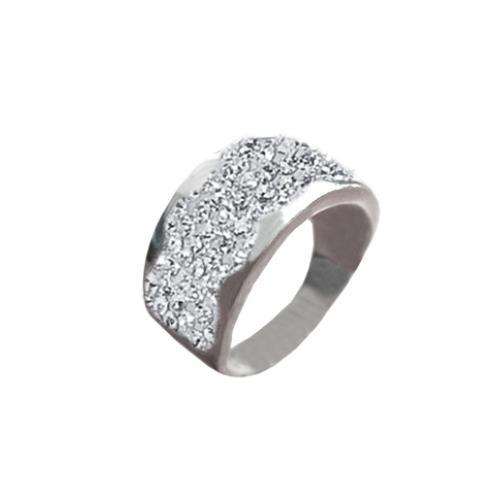 Сребърен пръстен с кристали от Swarovski®  SP649