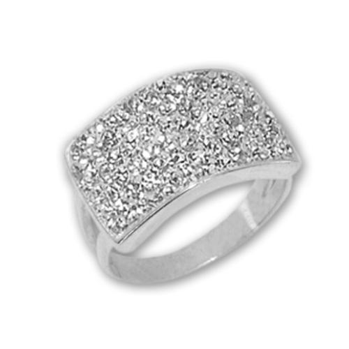 Сребърен пръстен с кристали от Swarovski®  SP650 Crystal