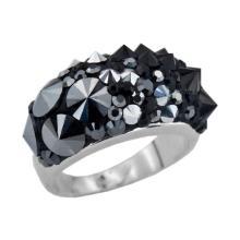 Сребърен пръстен с кристали от Swarovski®  SP653 Black Marquise