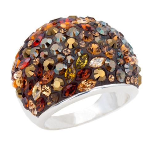 Сребърен пръстен с кристали от Swarovski®  SP655 Autumn Gold