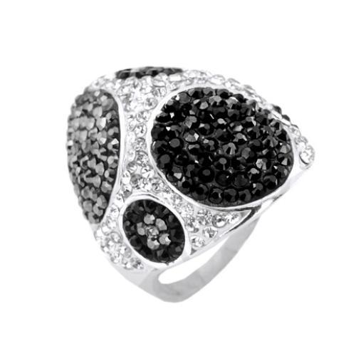 Сребърен пръстен с кристали от Swarovski®  SP657