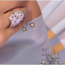 Сребърен пръстен с кристали от Swarovski®  SP658 Metallic Rose Gold
